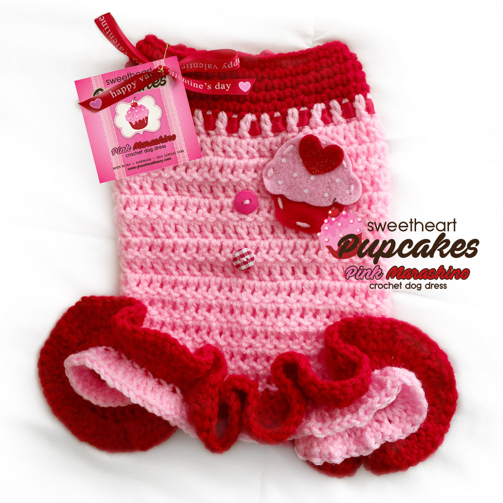 Sweetheart Pupcakes Sweater Dog Dress Dog Sweater