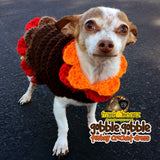 Gobble Gobble Turkey Dress Dog Clothes Dog Crochet Dress Warm Winter Sweater