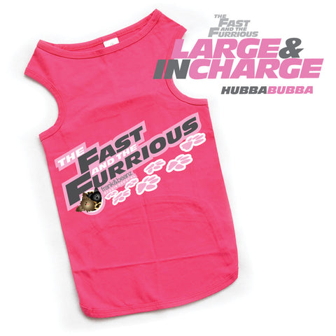 Fast & the Furrious™ - Large & in Charge Pink Dog Tank Top Shirt