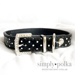Simply Polka-Rhinestone Bling Dog Collar