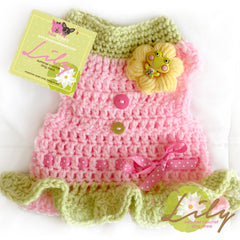 Lily- Summer Crochet Dog Dress