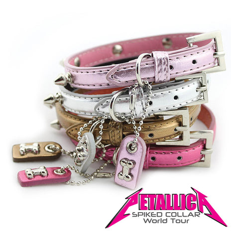 PETALLICA Spike Dog Collar Collection