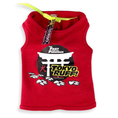 Fast & the Furrious™ - Tokyo Ruff Dog Red Tank Top