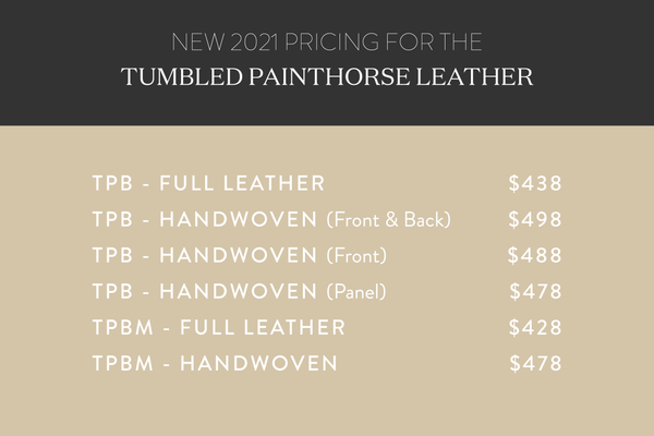 New 2021 pricing for Mexico Tumbled Leather Collection graphic