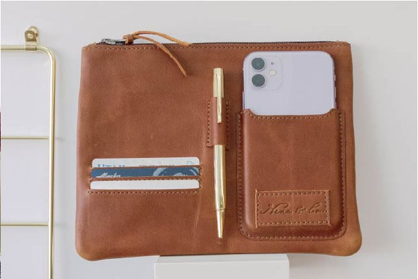 Nena & Co. Organzier Insert with phone, credit cards, and pens placed inside