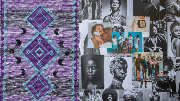 photo collage of a collaboration with Nena & Co. and Angela Webber for Black History Month.