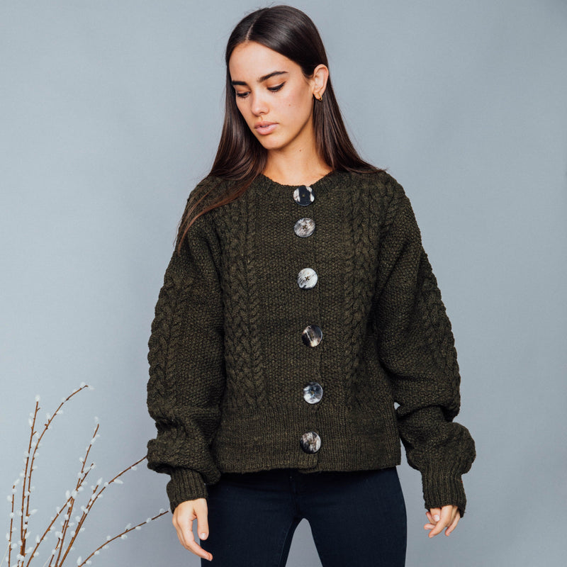 VICTORIE CABLE CARDIGAN SWEATER