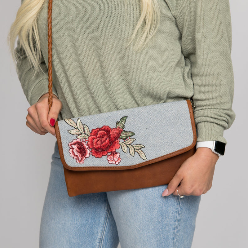 ARTISAN DATE NIGHT CLUTCH - UPCYCLED DENIM