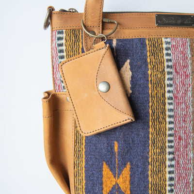 CARD WALLET - MEXICO COLLECTION - TOBACCO LEATHER