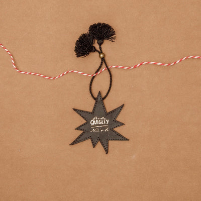 OFFICIALLY QUIGLEY x NENA & CO. - STARBURST CHARM - BLACK LEATHER