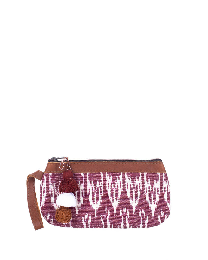 ARTISAN MINI CLUTCH - BAYA VINO - CAFE LEATHER