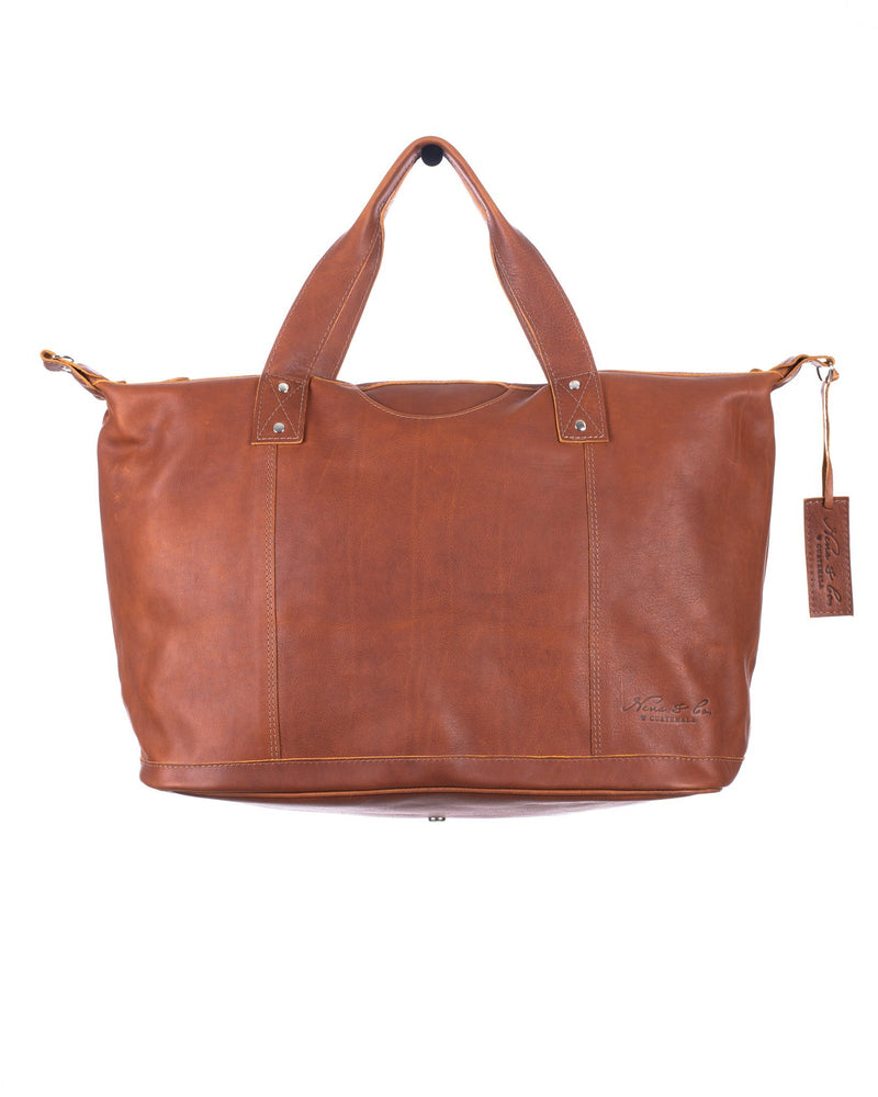 ARTISAN FULL LEATHER WEEKENDER - CAFE