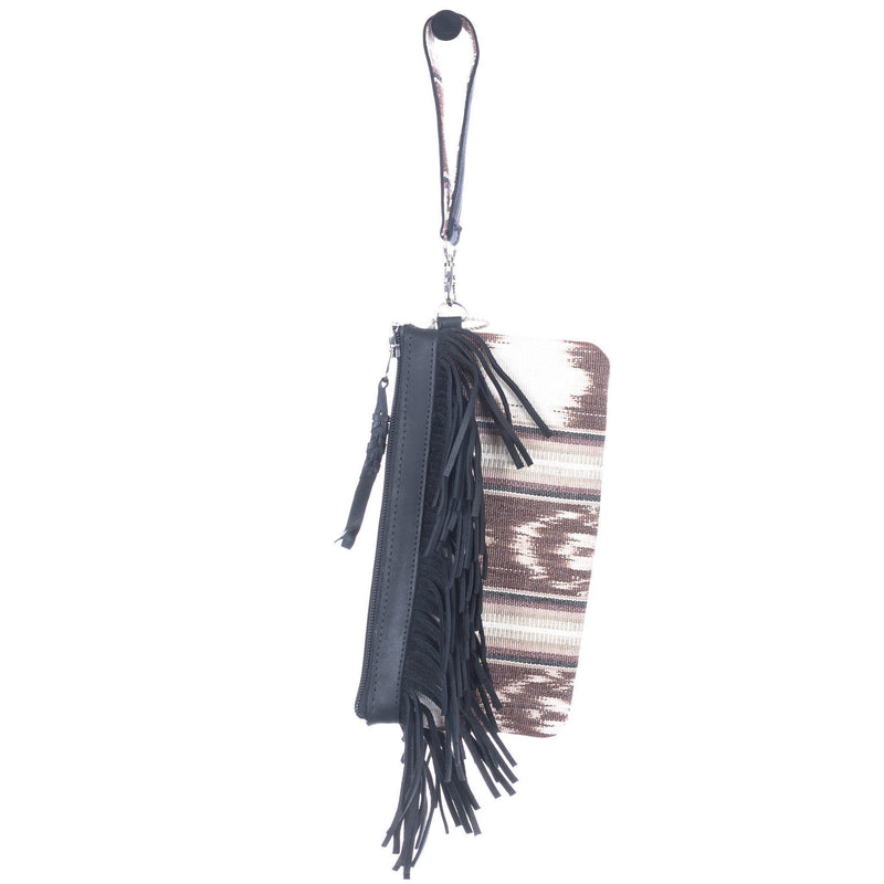 ARTISAN THE PERFECT FRINGE CLUTCH - FUERZA - BLACK
