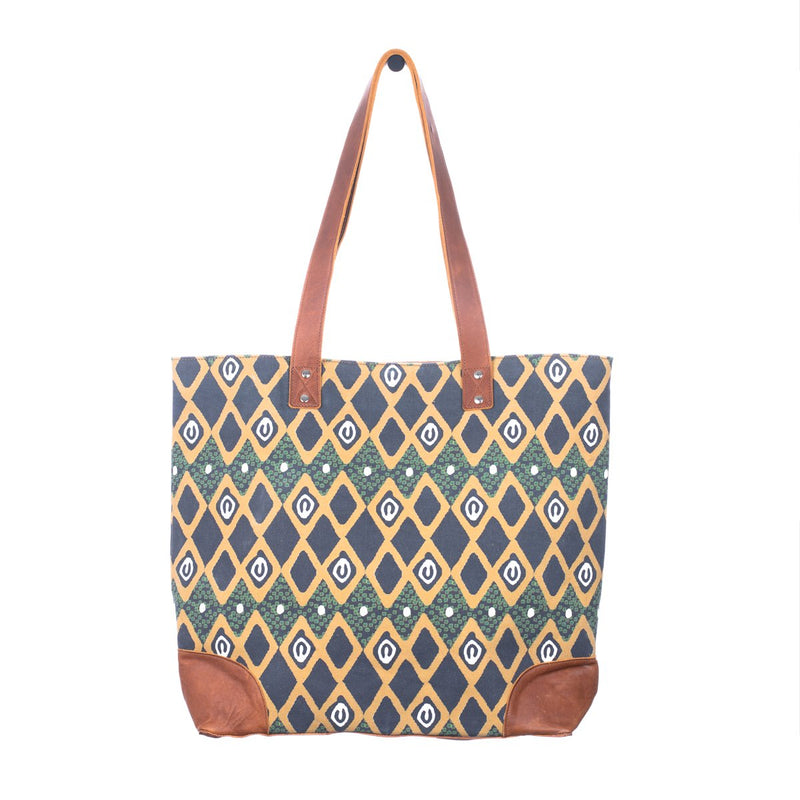 ARTISAN MORE THAN EVERYTHING TOTE - PROSPERITY - CAFE LEATHER - NICKEL HARDWARE