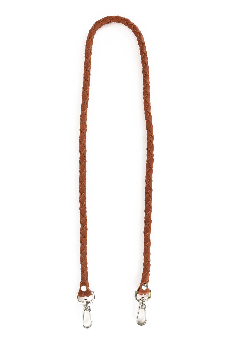LEATHER BRAIDED CROSS BODY STRAP