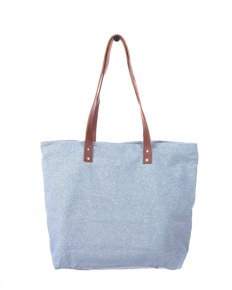 ARTISAN UP-CYCLED DENIM FARMERS MARKET TOTE