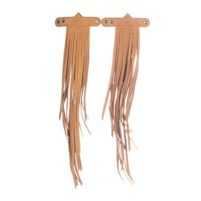 DIAMANTE FRINGE TASSEL - MEXICO COLLECTION - TOBACCO LEATHER - SET OF 2