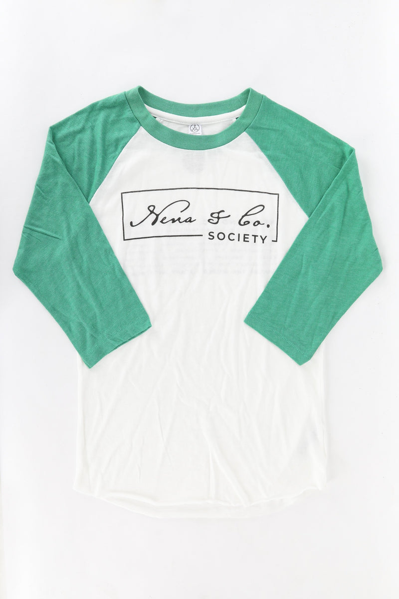 NENA BASEBALL T-SHIRT - GREEN