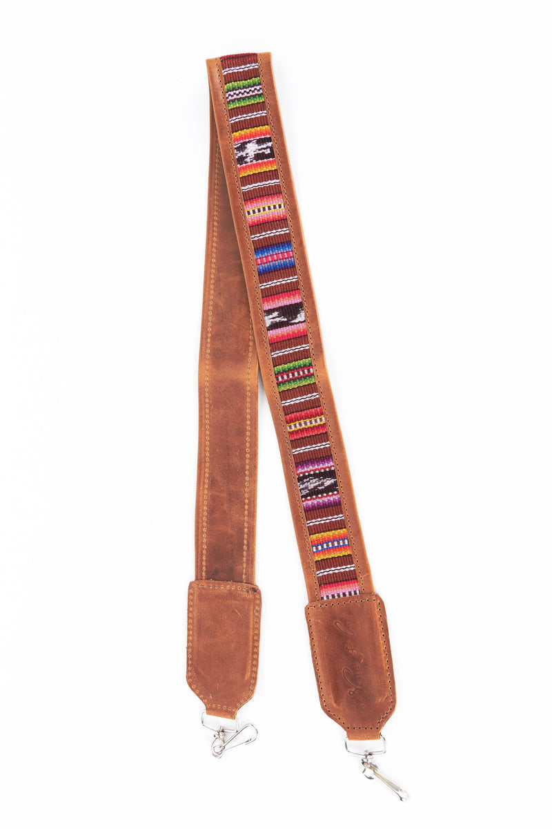 ARTISAN CAMERA STRAP - PINK/BROWN