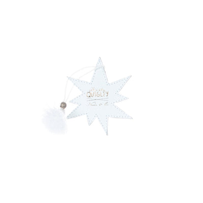 OFFICIALLY QUIGLEY x NENA & CO. - STARBURST CHARM - WHITE LEATHER