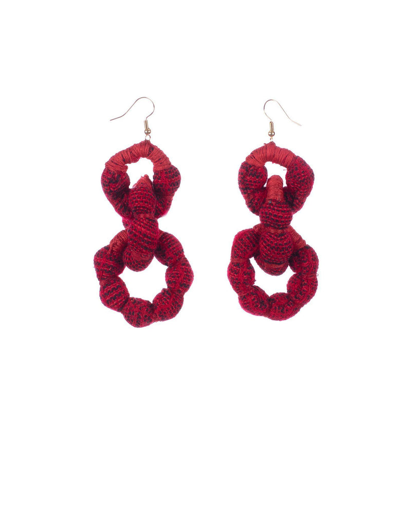 RED x BLACK MAGNOLIA EARRINGS