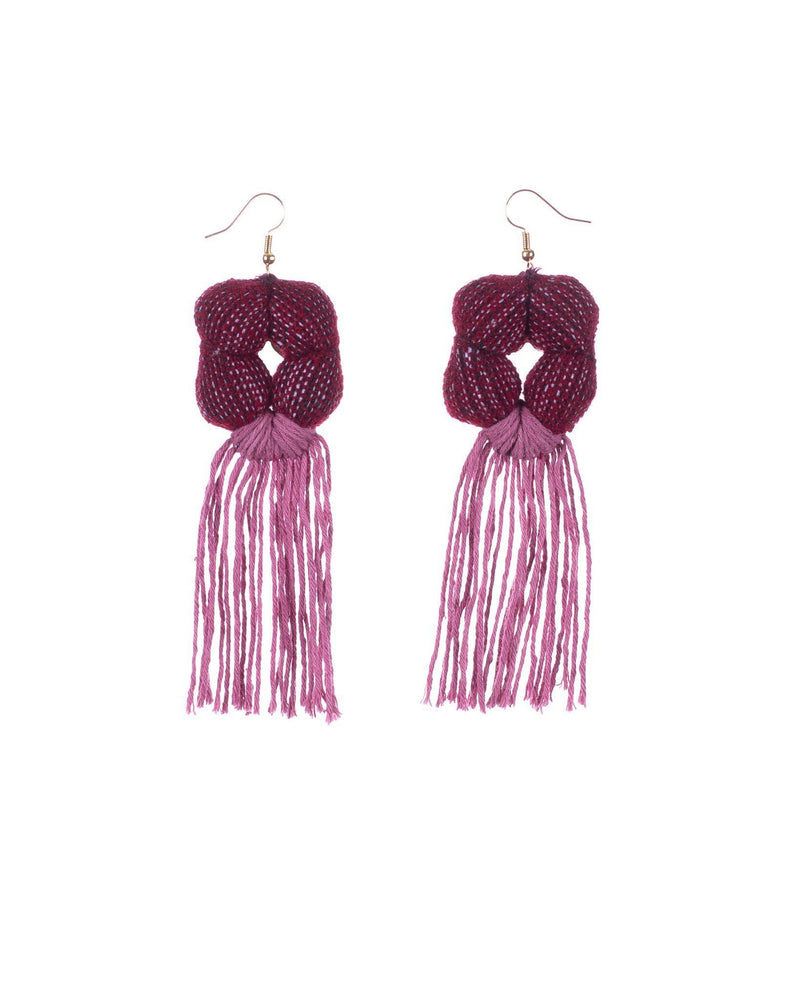 RED x MAUVE PERSEUS EARRINGS