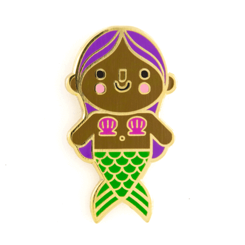 MERMAID BABY PIN - PURPLE HAIR