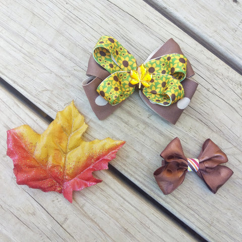 Autumn Leaves Hair Bow Gift Set - #QtsyLife  Fashion and Planner Accessories - QtsyLife.com