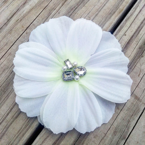 Beautiful White Bridal Gardenia Hair Flower - #QtsyLife  Fashion and Planner Accessories - QtsyLife.com