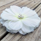 Gardenia Pearl Bridal Hair Flower - #QtsyLife  Fashion and Planner Accessories - QtsyLife.com
