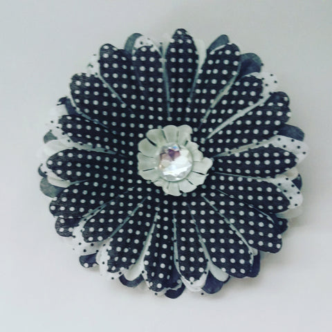 Polka Dot Daisy Hair Flower - #QtsyLife  Fashion and Planner Accessories - QtsyLife.com
