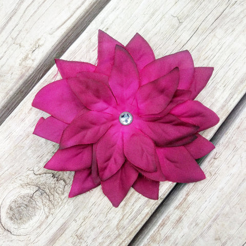 Festive Poinsettia Hair Flower - #QtsyLife  Fashion and Planner Accessories - QtsyLife.com