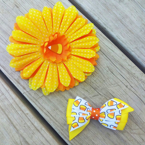 Candy Corn Hair Accessory Gift Set - #QtsyLife  Fashion and Planner Accessories - QtsyLife.com