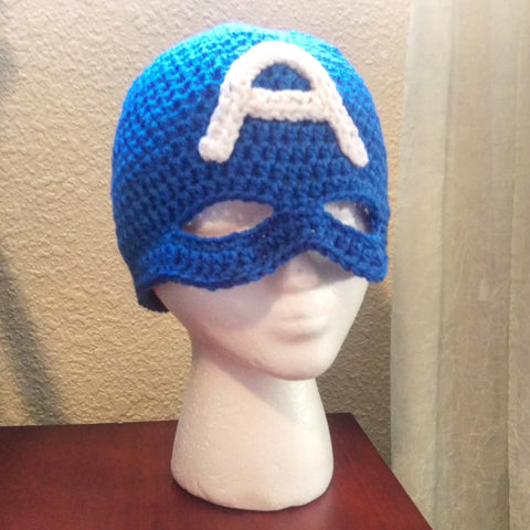 Captian America Masked Beanie Costume Hat - #QtsyLife  Fashion and Planner Accessories - QtsyLife.com