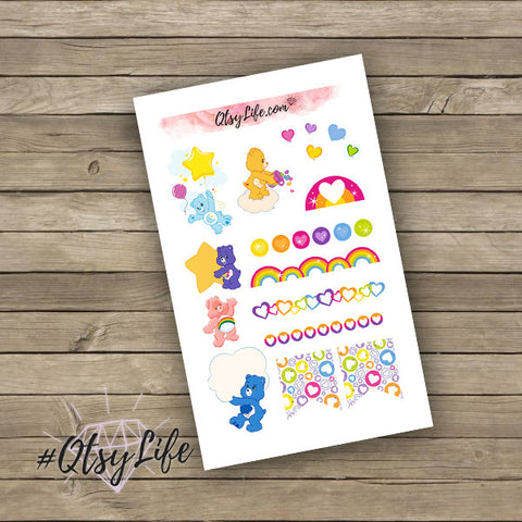 Care Bears Planner Stickers