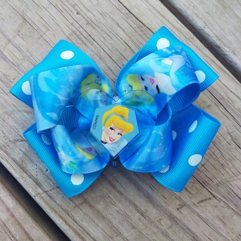 Cinderella Hair Bow - #QtsyLife  Fashion and Planner Accessories - QtsyLife.com