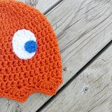 Clyde Pacman Ghost Crochet Beanie - #QtsyLife  Fashion and Planner Accessories - QtsyLife.com