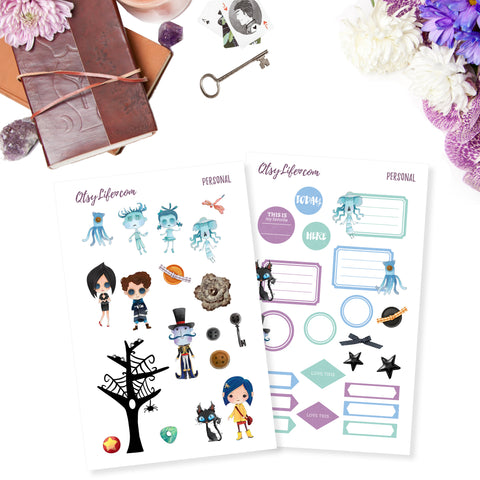 Coraline Printable Planner Stickers Digital Downloads