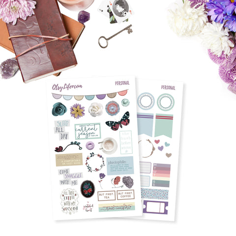 Cozy Day Printable Planner Stickers Digital Downloads