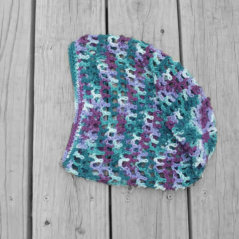 Crochet Open Weave Beanie in Mermaid - #QtsyLife  Fashion and Planner Accessories - QtsyLife.com