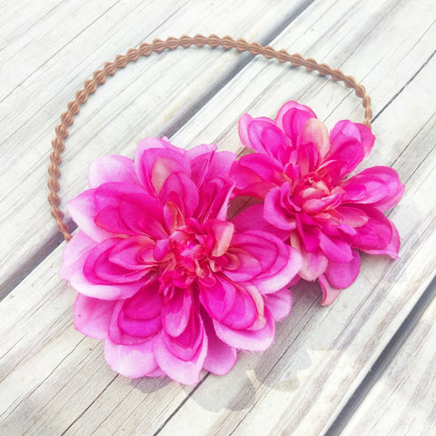 Dahlia Hair Flower Headband - #QtsyLife  Fashion and Planner Accessories - QtsyLife.com