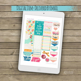 Dream Big Printable Planner Stickers by QtsyLife for the happy planner on qtsylife.com