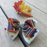 Fall Glitter Leaves Hair Bow Gift Set - #QtsyLife  Fashion and Planner Accessories - QtsyLife.com