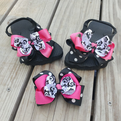 Toddler Hair Bow Flip Flop Gift Set - #QtsyLife  Fashion and Planner Accessories - QtsyLife.com