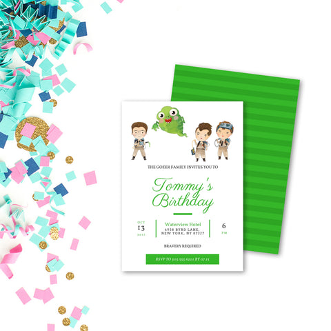 Ghostbusters Customized Printable Party Invitation - Digital Download
