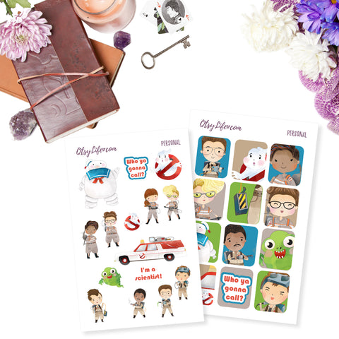 Ghostbusters Party Printables Digital Sticker Download