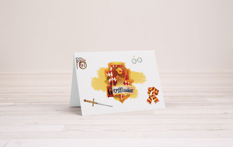 Gryffindor Greeting Card - Printable Download