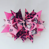 Hello Kitty Leopard Hair Bow - #QtsyLife  Fashion and Planner Accessories - QtsyLife.com