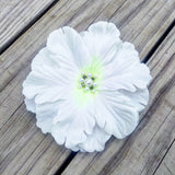 White Hibiscus Bridal Hair Flower - #QtsyLife  Fashion and Planner Accessories - QtsyLife.com