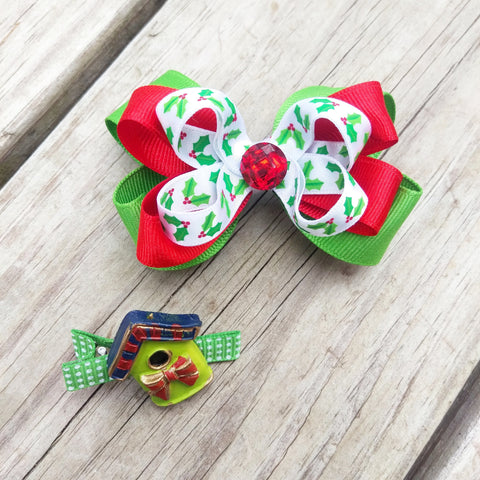 Yuletide Holiday Hair Bow Gift Set - #QtsyLife  Fashion and Planner Accessories - QtsyLife.com